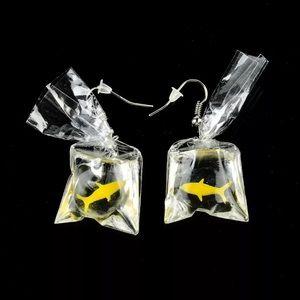 Carnival Gold Fish Water Bag Dangle Earrings. 🆕